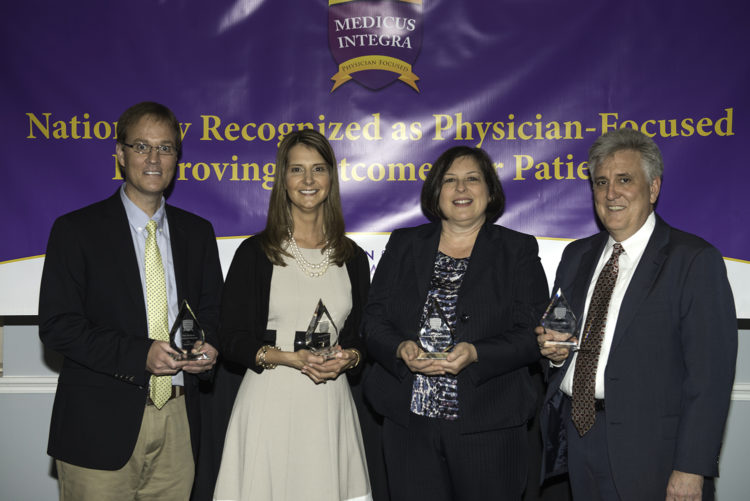 Award recipients were the Medical Center of Aurora, Avera Health System, Florida Hospital, and Loma Linda University Health.